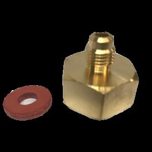 AD51 EU TANK Adapter, 5/8 BSP x 1/4 SAE Male