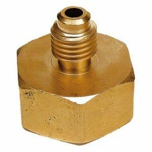 "AD41 Gas Bottle Adaptor 3/4""-14 x 1/4"" SAE M"