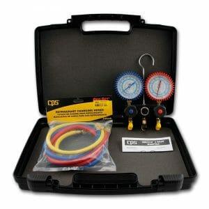 Manifold and Gauge 2-valve R22, R134a, R404A, R407C Vortech (MV2JS3C) CPS