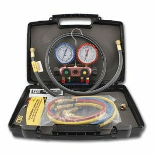 CPS 4WAY R410a Manifold w. Hose & Carry Case