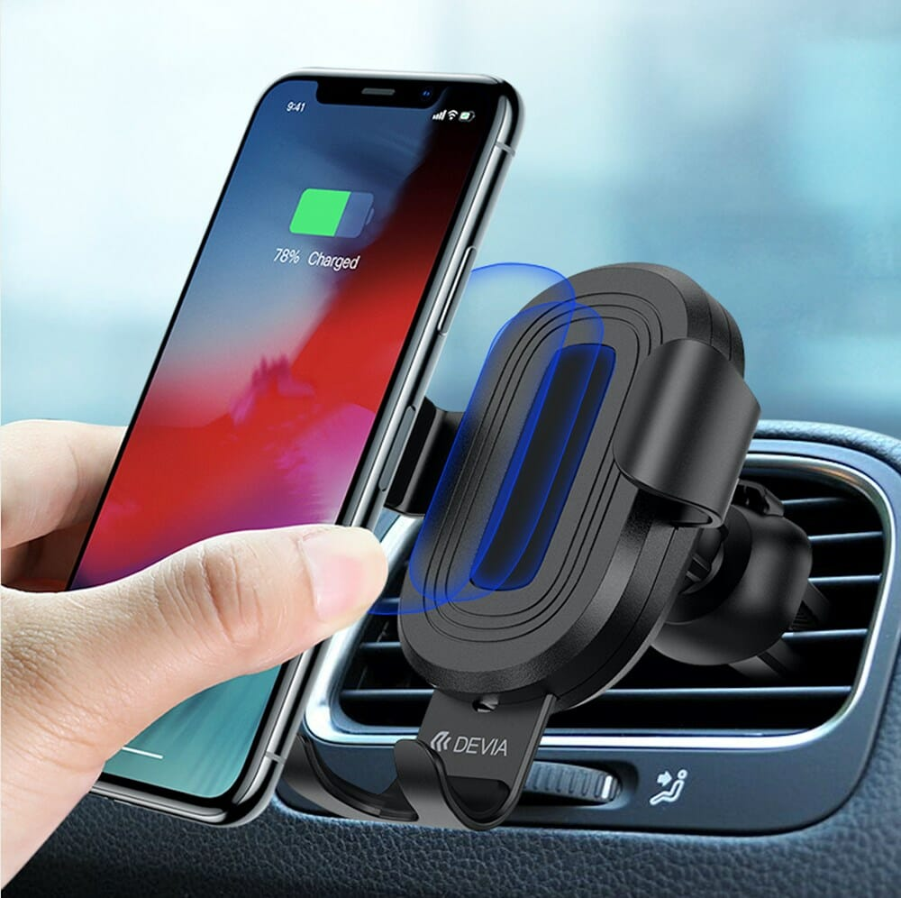 Car Holder Charger MagSafe Air Vent Wireless 10W - Black